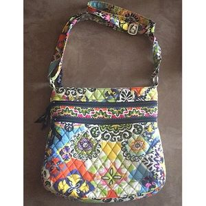 Vera Bradley Triple-Zip Hipster Crossbody Bag